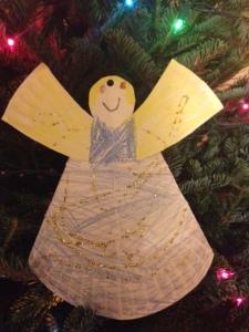 paper glitter angel