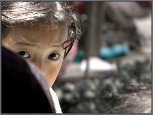 shy child
