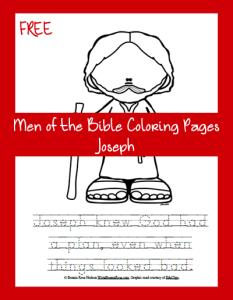 Free Bible Coloring Page-Joseph