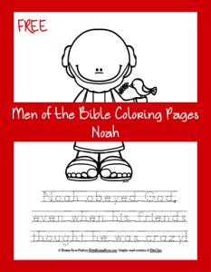 Free Bible Coloring Page-Noah