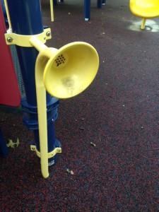 speaker at park