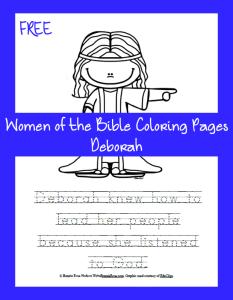 Free Bible Coloring Page Deborah