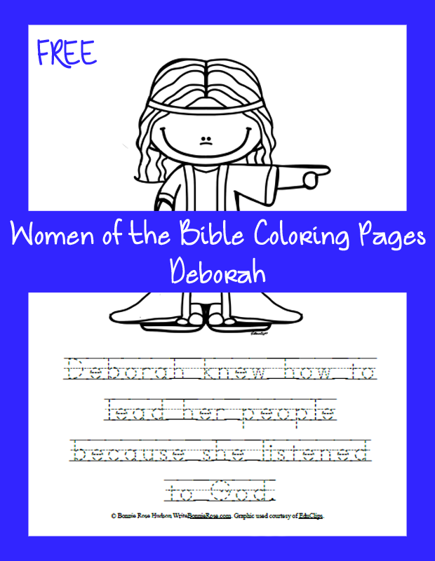 FREE Women of the Bible Coloring