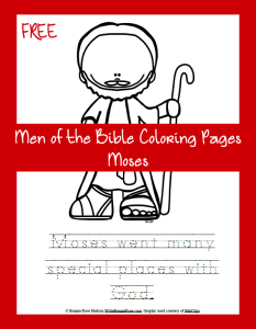 FREE Men of the Bible Coloring Page-Moses