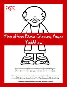 Men of the Bible Coloring Page-Matthew