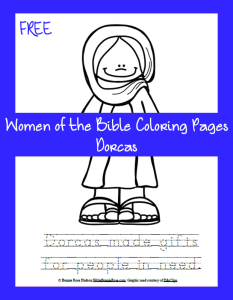 Women of the Bible Coloring Page-Dorcas