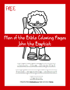 Men of the Bible Coloring Page-John the Baptist