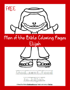 FREE Men Of The Bible Coloring Page Elijah