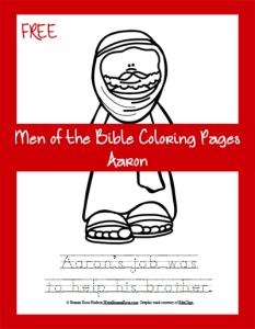 Men of the Bible Coloring Page-Aaron