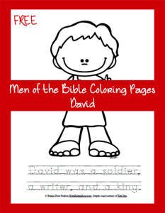 Men of the Bible Coloring Page-David