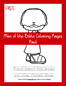 Men of the Bible Coloring Page-Paul