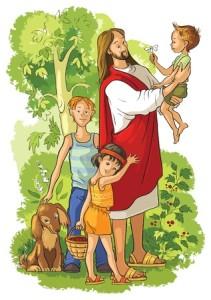 48482707 - jesus with children