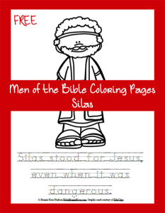 FREE-Men of the Bible Coloring Page-Silas