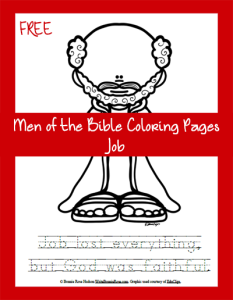 Men of the Bible Coloring Page-Job