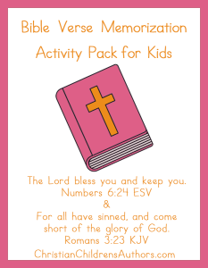 bible verse activities for kids numbers 6 24 and romans 3 23