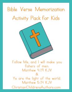 Bible Verse Activities for Kids-Matthew 4:19 and 5:14