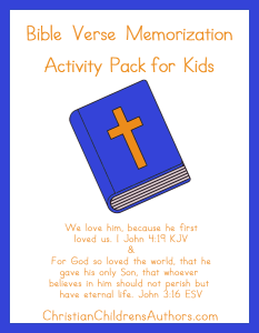 Bible Verse Activities for Kids-Verses About Love